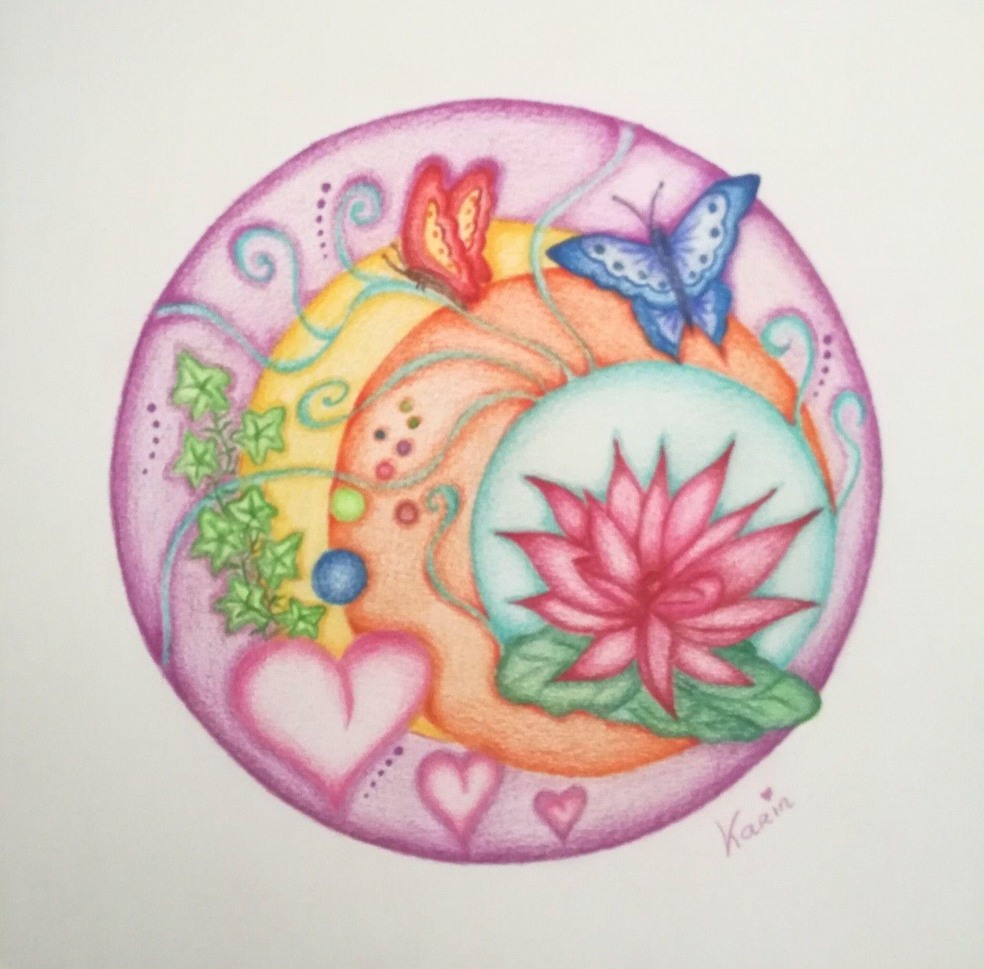 Mandala Ka Inspiratie Www Karinvandelangenberg Nl Mandala Kleurplaten Mandala Tekenen Kleurpotloden