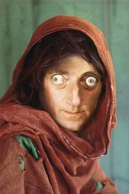 Afghan Girl from famous 1985 National Geographic photo to