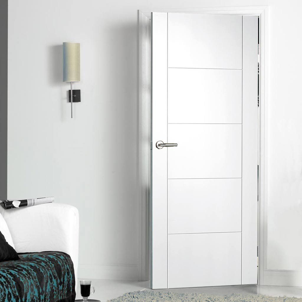 A fine ex&le of styling for the Vancouver white primed flush door very clean and & Vancouver White Primed Flush Door | Flush doors Contemporary ...