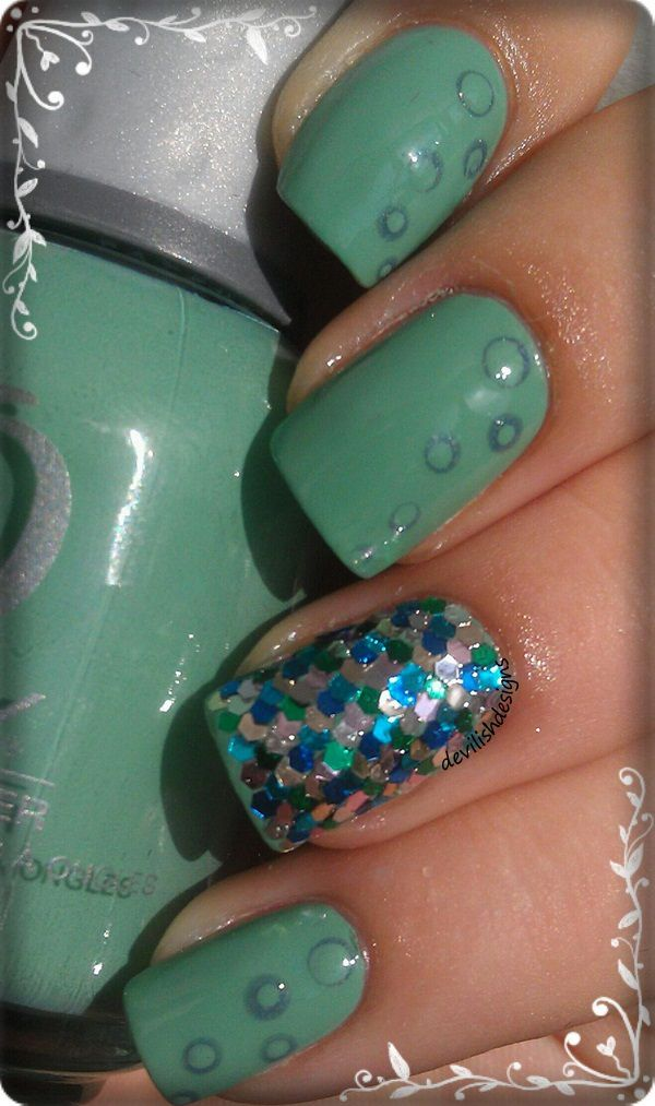 Fish scaled inspired nail art | Nail Art | Pinterest | Decoración de ...