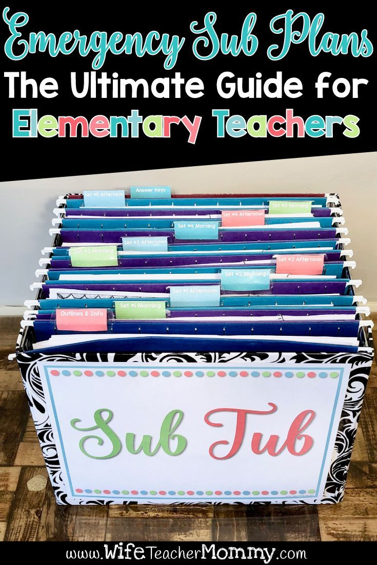 Emergency Sub Plans: A Comprehensive Guide for Elementary Teachers