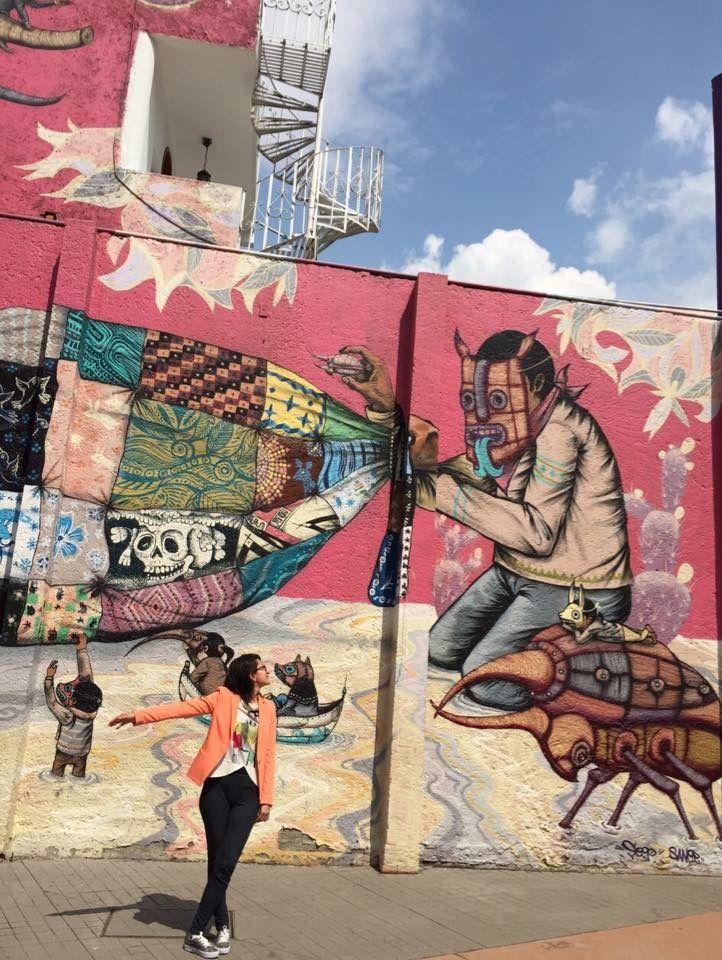 Cinco obras de arte urbano en diferentes estados de México.