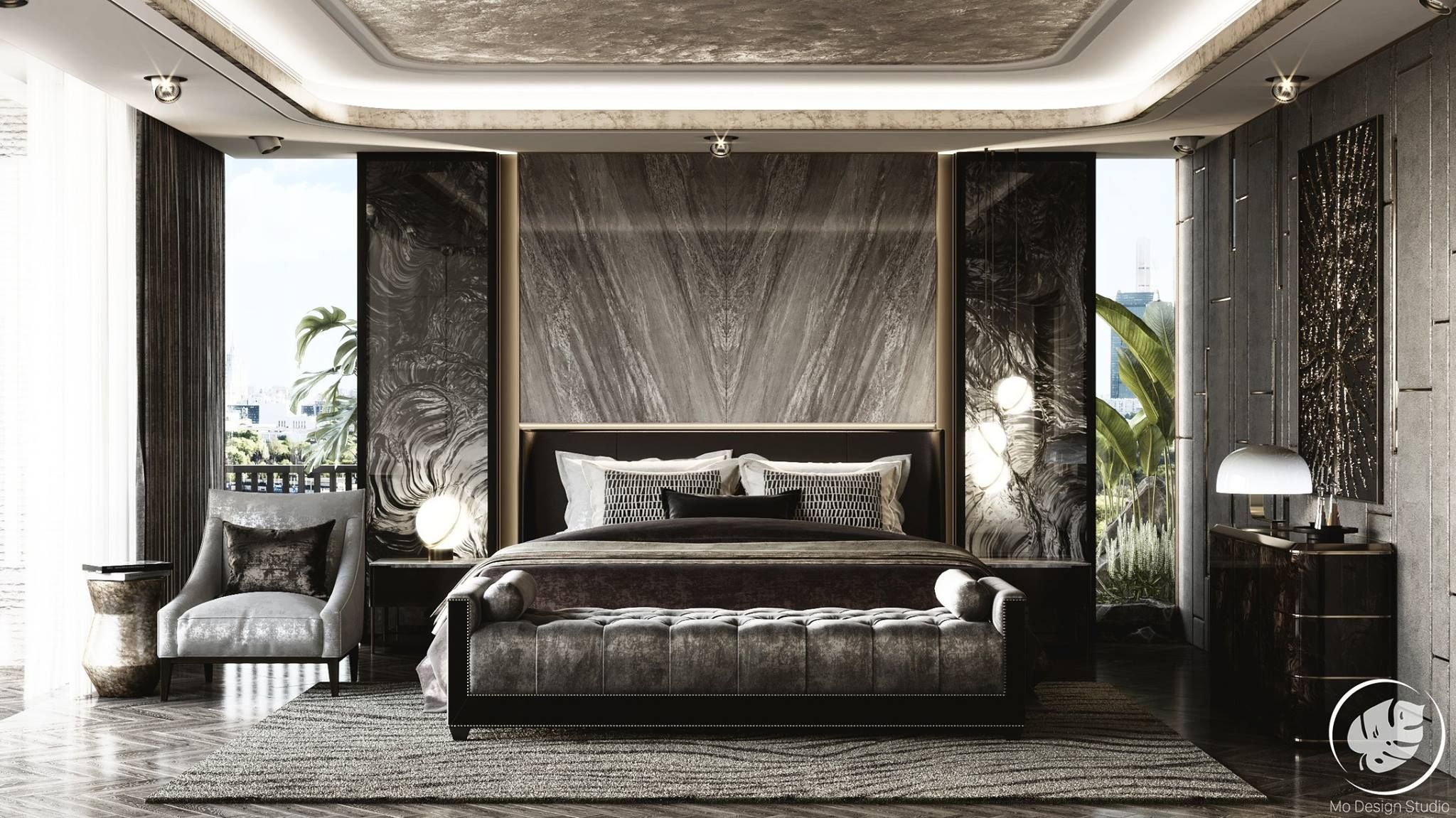 Pin By Mcarchi Design On Luxurious Design Luxury Apartments Interior Modern Luxury Bedroom Apartment Interior Decorating