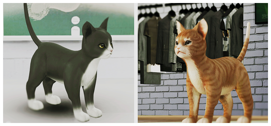 My Sims 4 Blog We Need Pets Decorative Cats by BlackLe