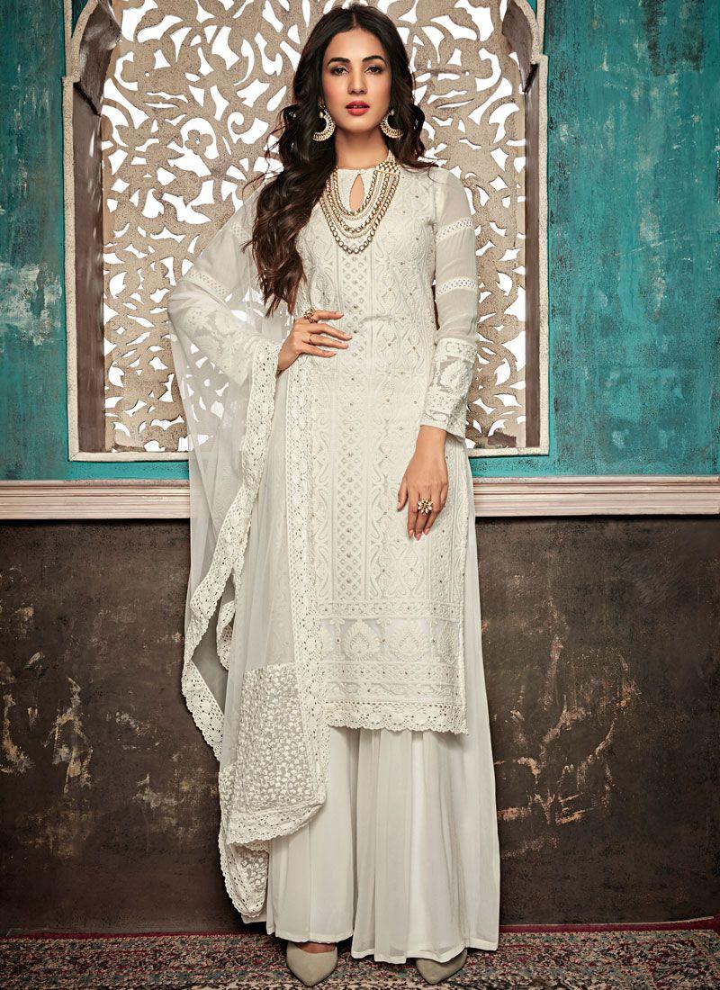Palazzo Suit Salwar kameez Indian Designer Party wear Dress Material for Girls