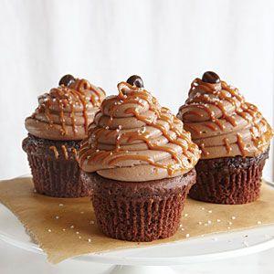 Caramel-Mocha-Sea Salt Cupcakes***