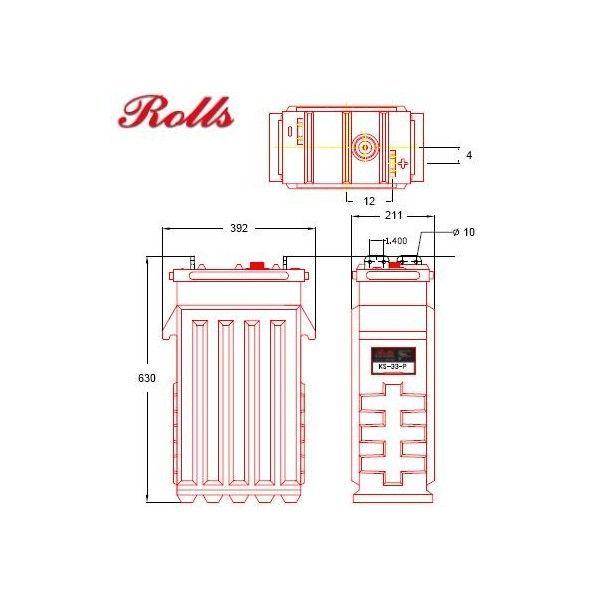 Banco Batterie Rolls - 48V 119.52kWh - Codice: 200ROLLS2KS33P