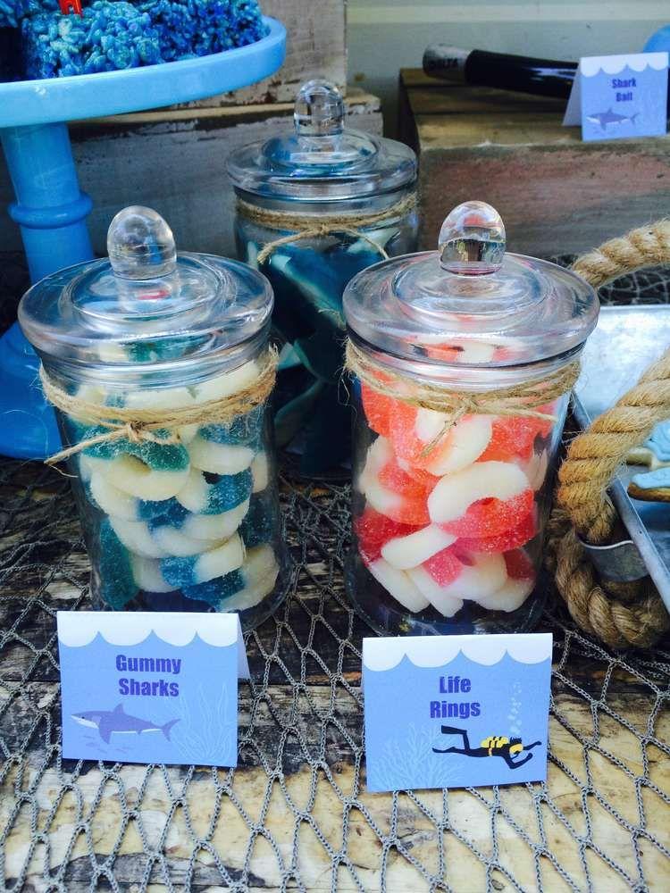 Shark Summer Party Ideas Shark birthday party, Shark