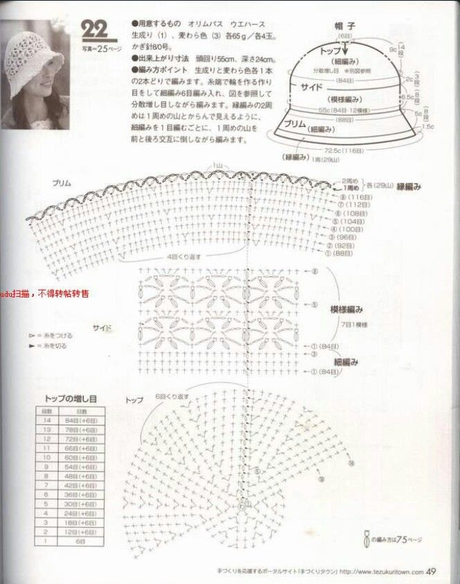 Picasa Web Albums. Crochet woman\'s hat pattern diagram | caciuli ...