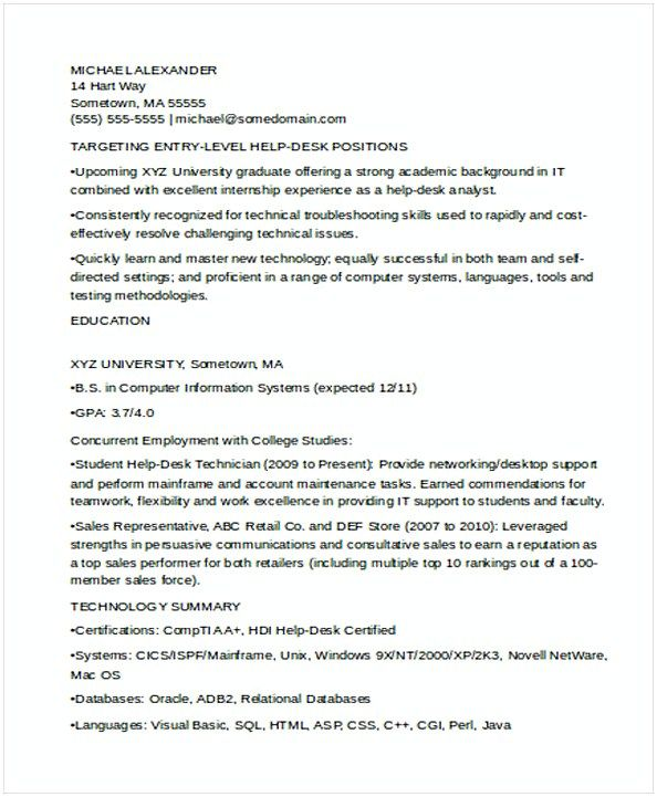 Sample Entry Level IT Resume , IT Operations Manager Resume , Do you