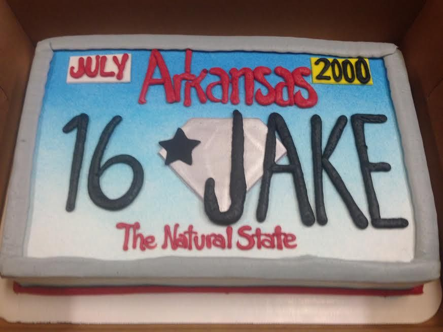 16th Birthday License Plate Cake Https Www Djpeter Co Za Https