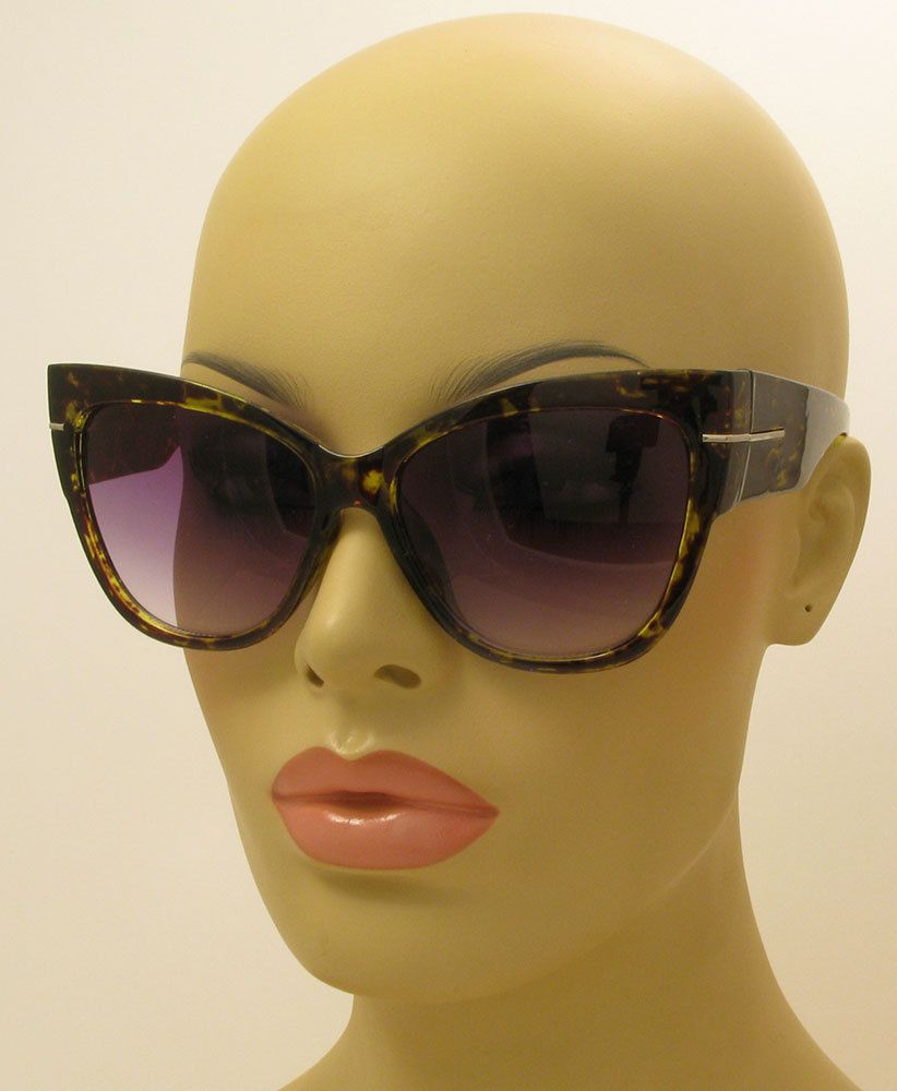 7683cd973e8c0 Large Oversized Cat Eye Thick Frame Gradient Spotted Green Anoushka  Sunglasses  AW  CatEye