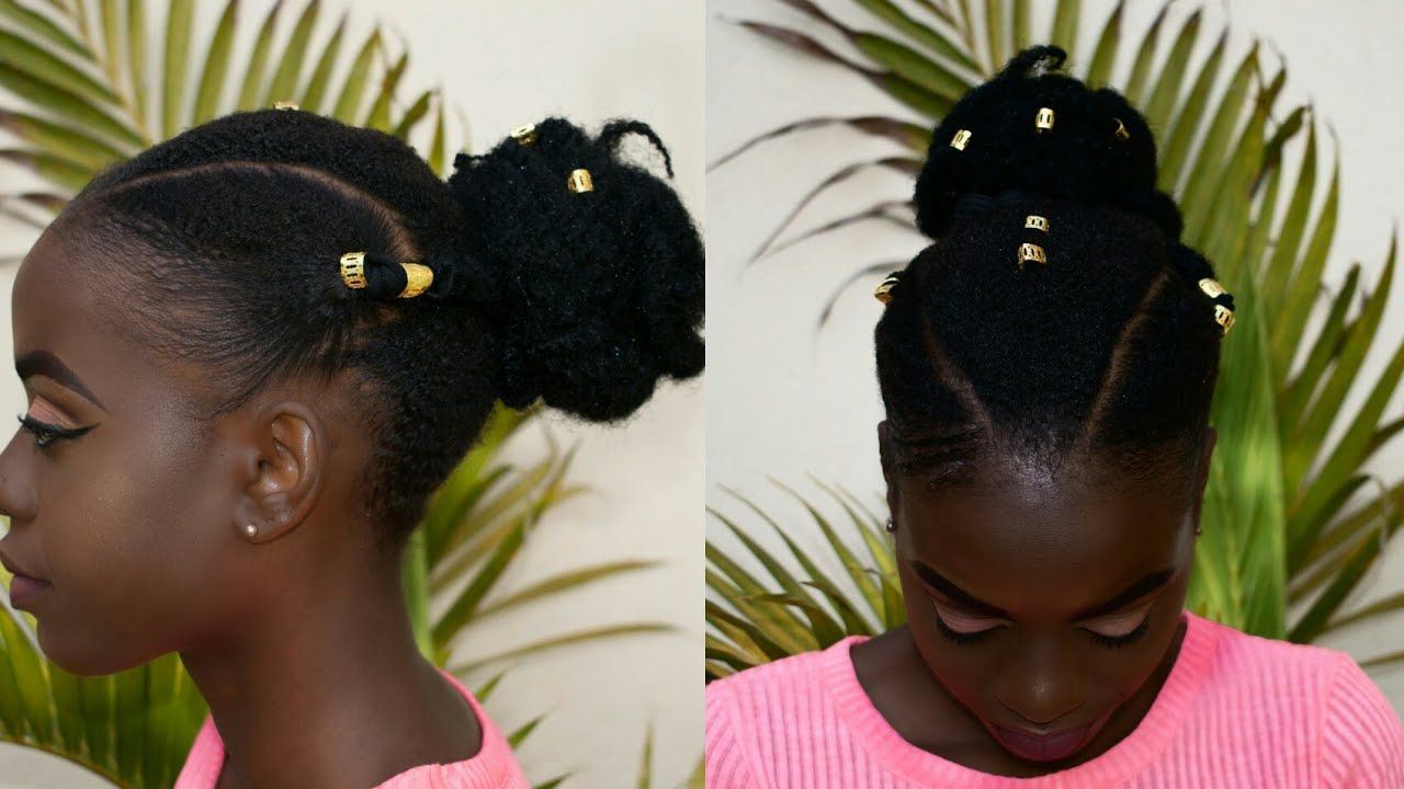 Cute And Easy Hairstyle For Short Natural Hair Type 4a 4b