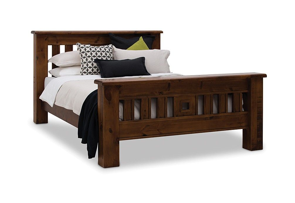 CLASSIC AND STURDY You Cant Go Past A Wooden Bed Frame Like This - Settler bedroom furniture