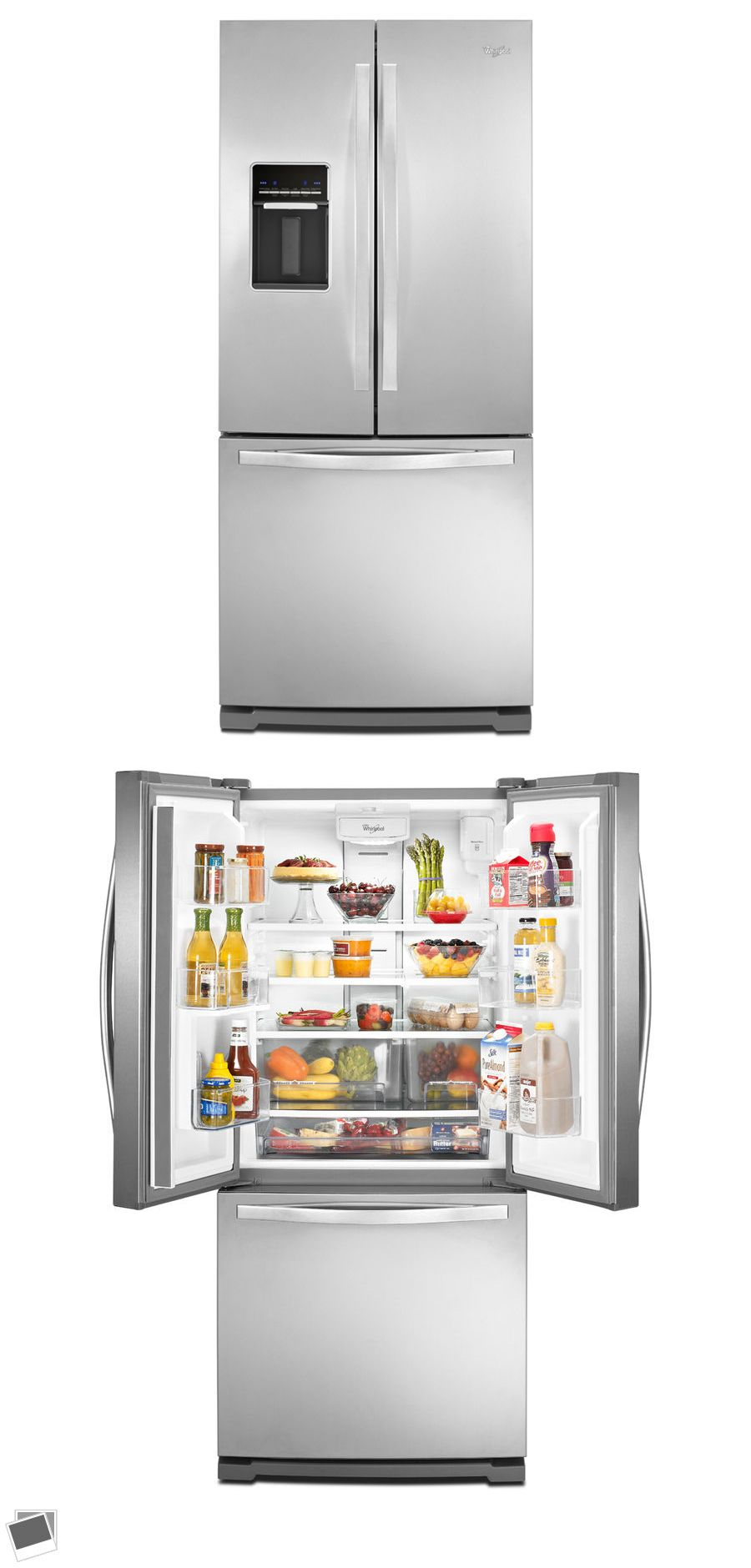 Refrigerators whirlpool cu ft french door refrigerator