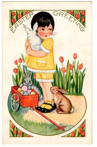 Girl with Bunnies