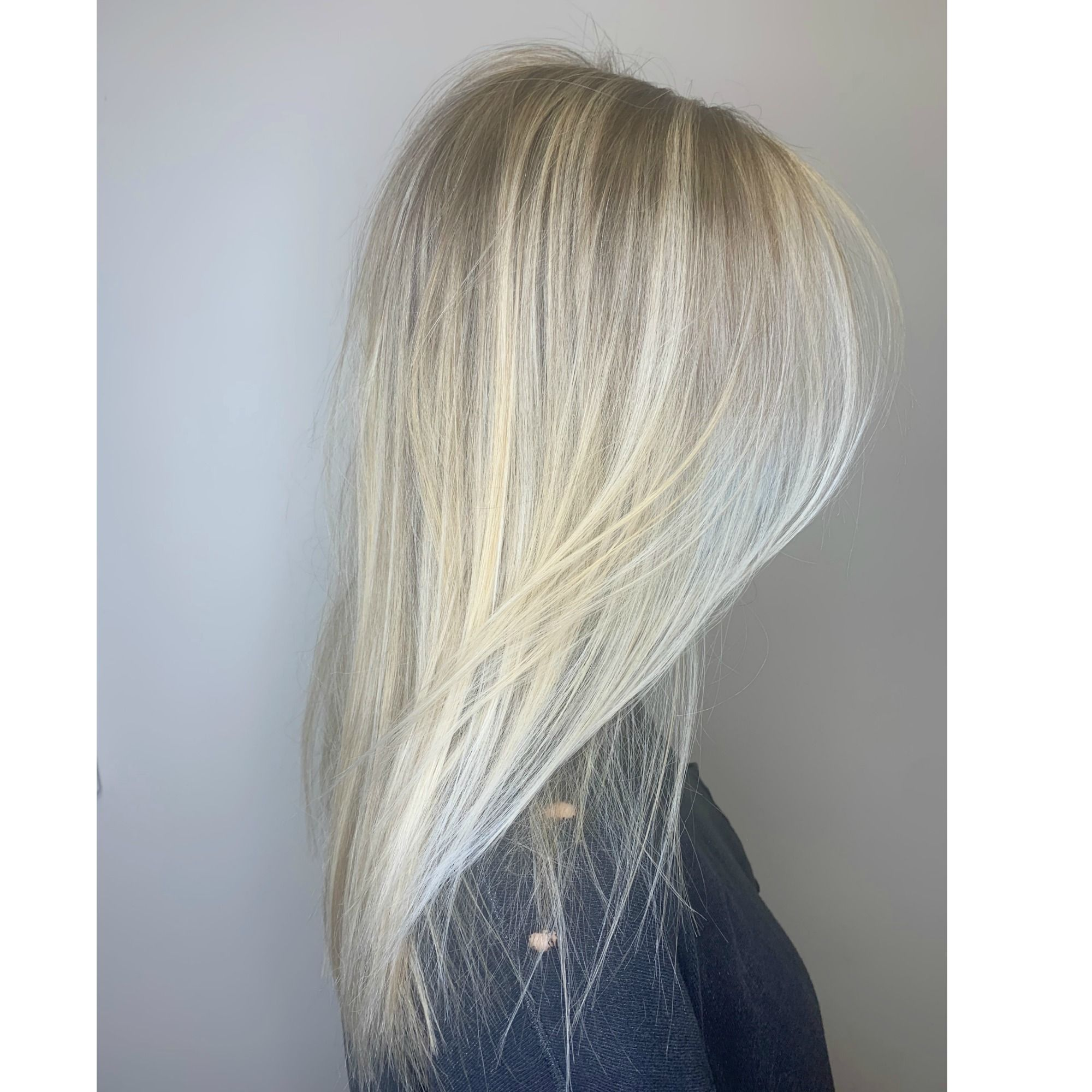 Bright Blonde Foilayage In 2020 Best Hair Salon Hair Styles Long Hair Styles