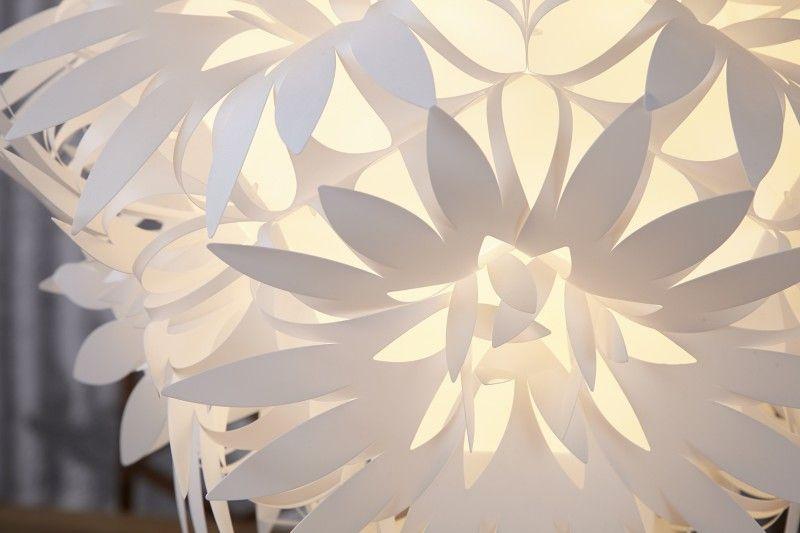 Dizajnová závesná biela lampa FIORE