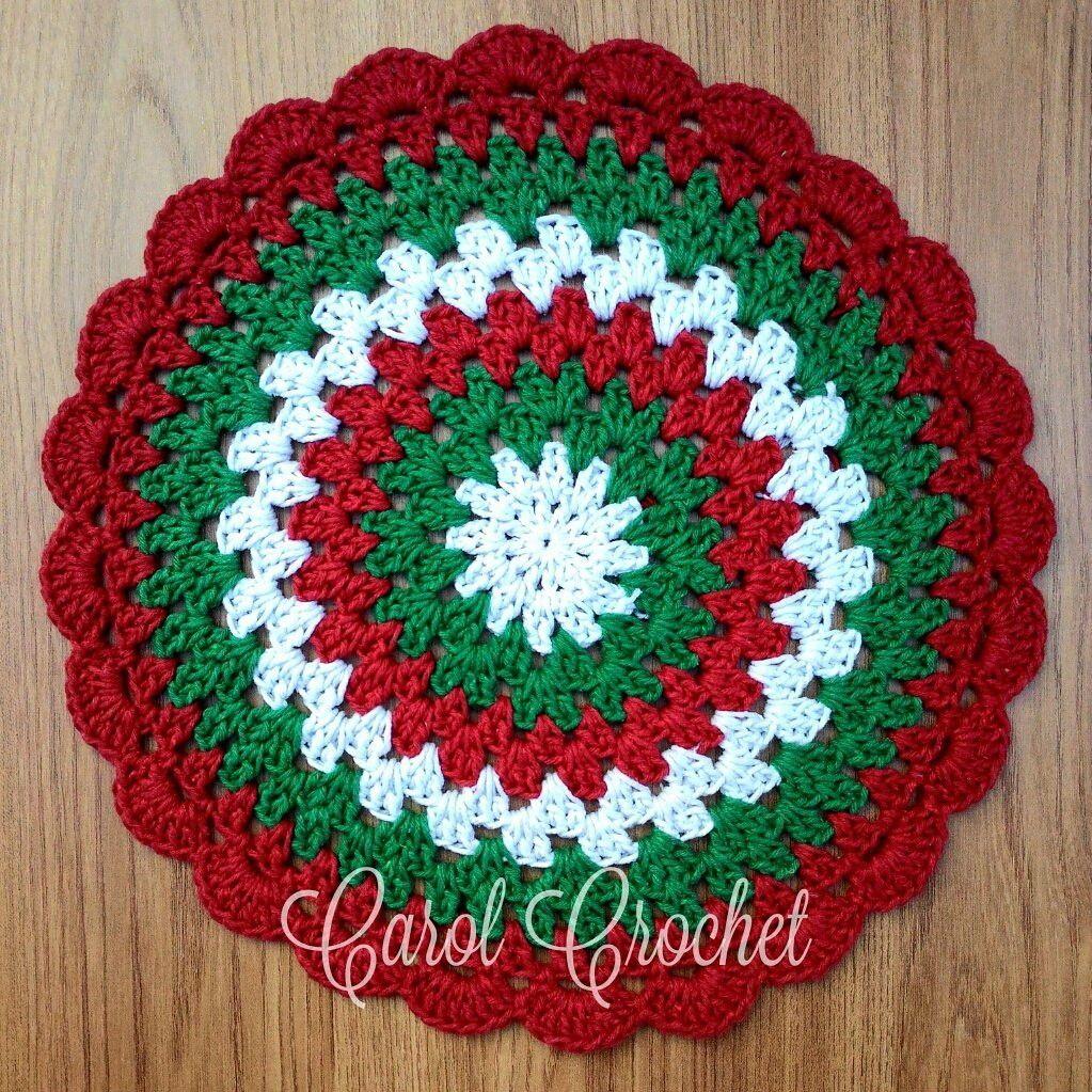 Sousplat De Croche Vermelho Natal Com Imagens Sousplat Croche