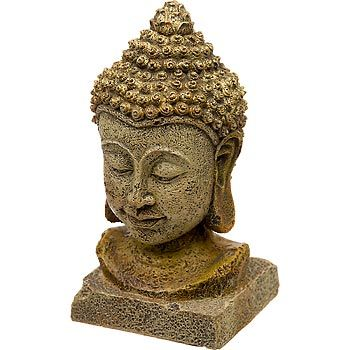 Blue ribbon thai buddha head aquarium ornament peaceful for Decoration zen aquarium