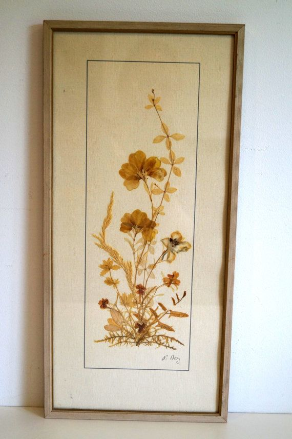 Dried Flowers Wall Art Picture Frames By Vintagdesign