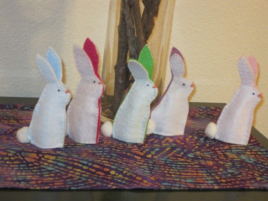 5 Little Rabbits Spring Rabbits Fingerpuppets