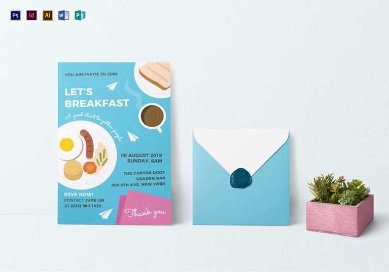sample breakfast invitation template graphic design templates