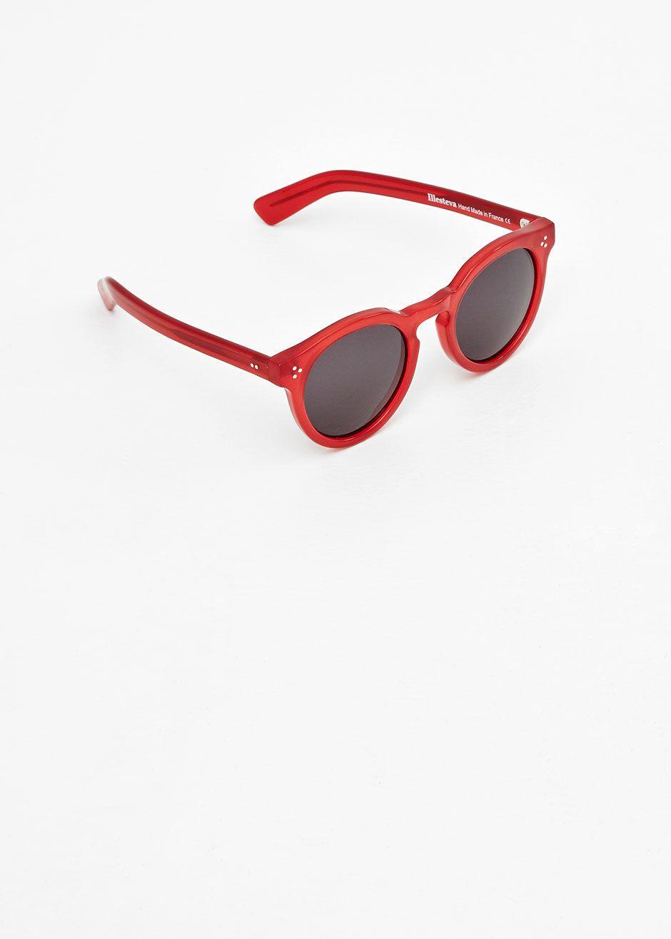 Illesteva Leonard II Sunglasses (Red)