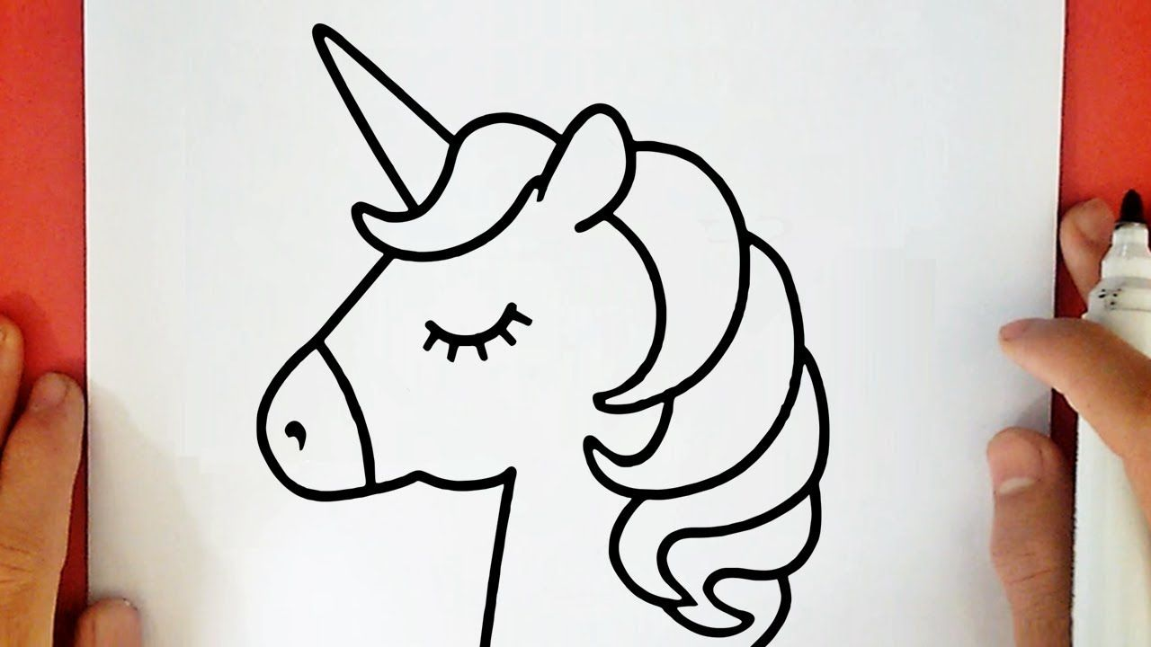 Comment Dessiner Une Licorne Kawaii Youtube Unicorn Drawing Easy Drawings Easy Animal Drawings