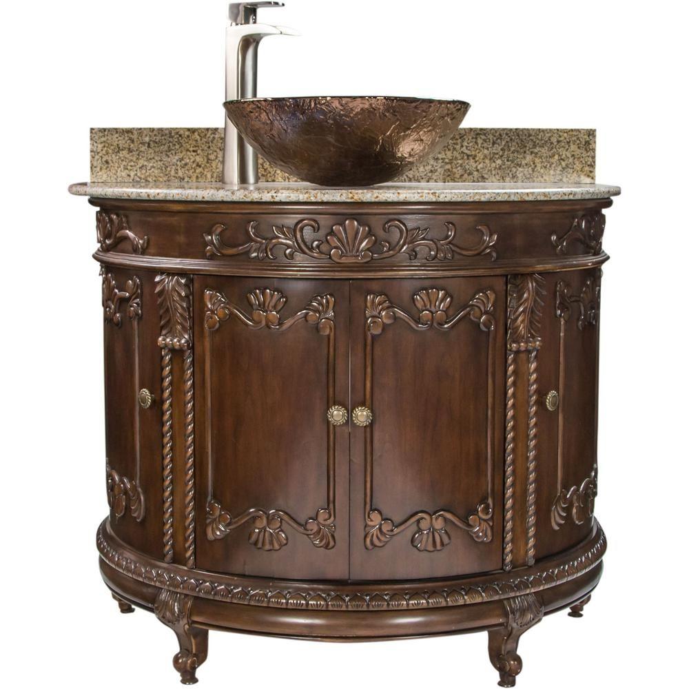 Jsg Oceana Semi Circle 36 9 In W X 23 In D Bath Vanity In