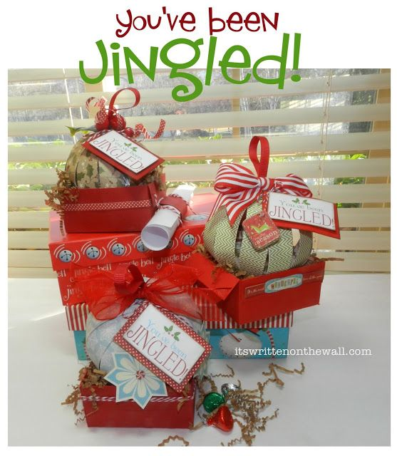 Fun gift idea for Neighbors, family and friends You've Been Jingled. PLUS  Tutorial for cute candy filled ornament. #Crafts - Fun Gift Idea For Neighbors, Family And Friends You've Been Jingled