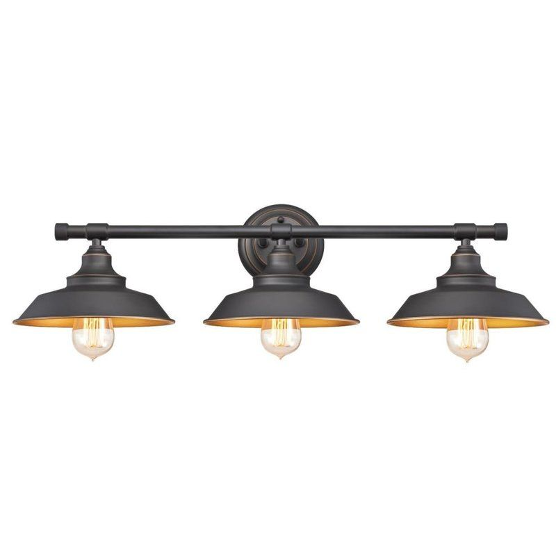 The Alayna 3 Light Vanity Light offers vintage charm and a rustic