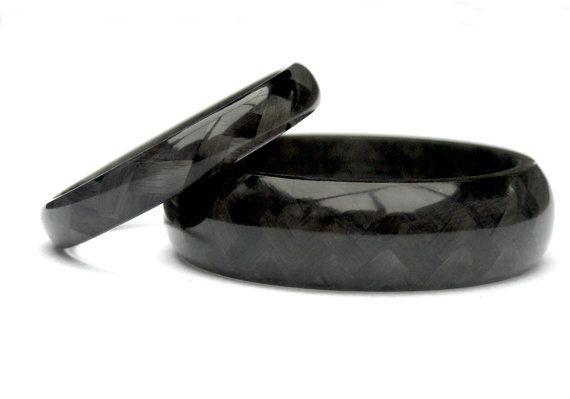 Carbon Fiber Wedding Rings Shinny Pretty Things Pinterest