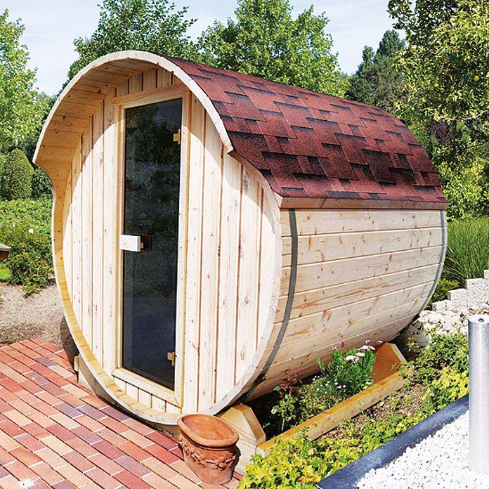 karibu fasssauna 1 mit saunaofen 9 kw inkl steuerung premium au enma 205 x 200 x 216 cm. Black Bedroom Furniture Sets. Home Design Ideas