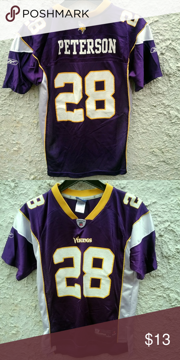 new arrival 52fec ec16a Minnesota Vikings Peterson Jersey Youth Large Minnesota ...