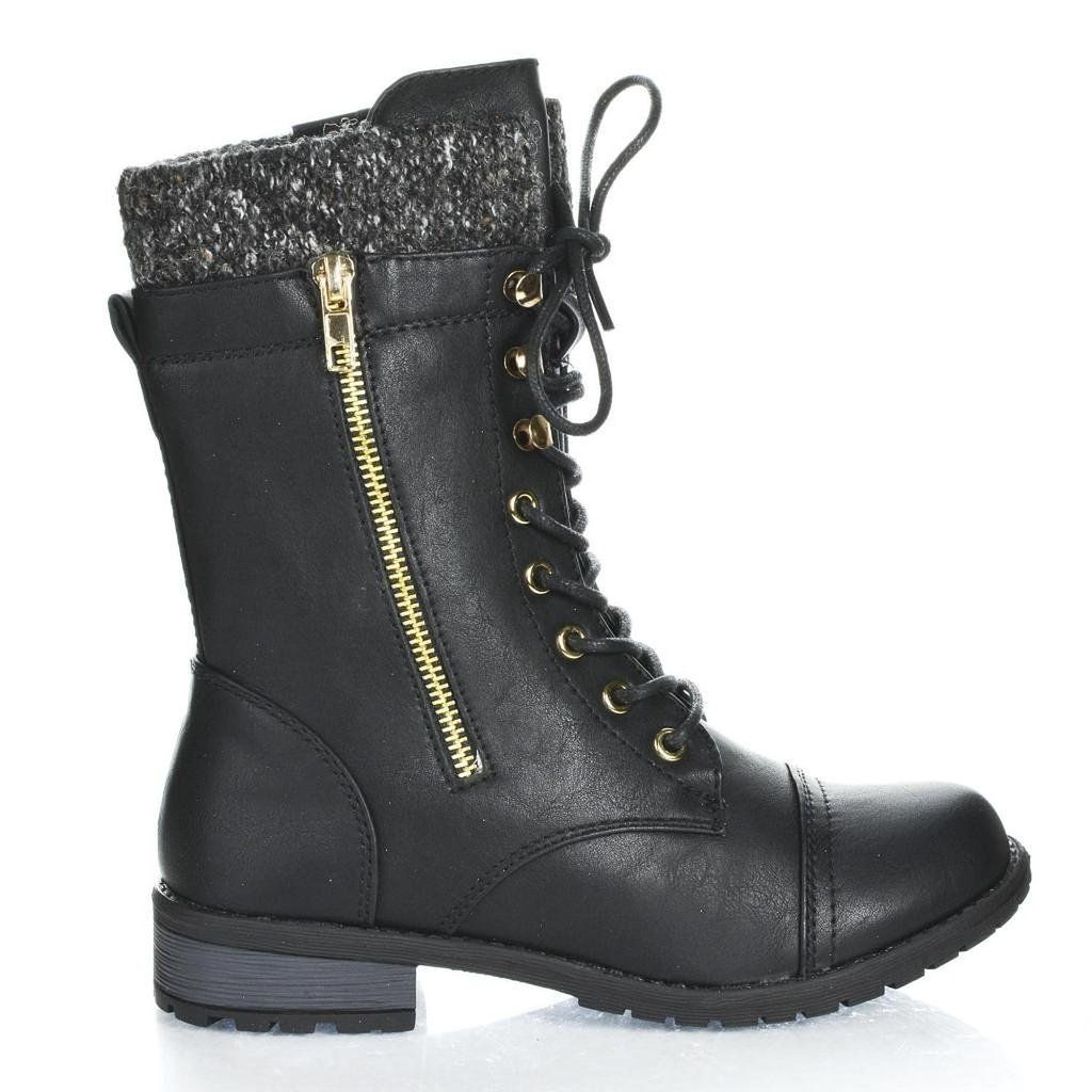 Optimal Women's Lace-Up Combat Toe Boot Martin boots