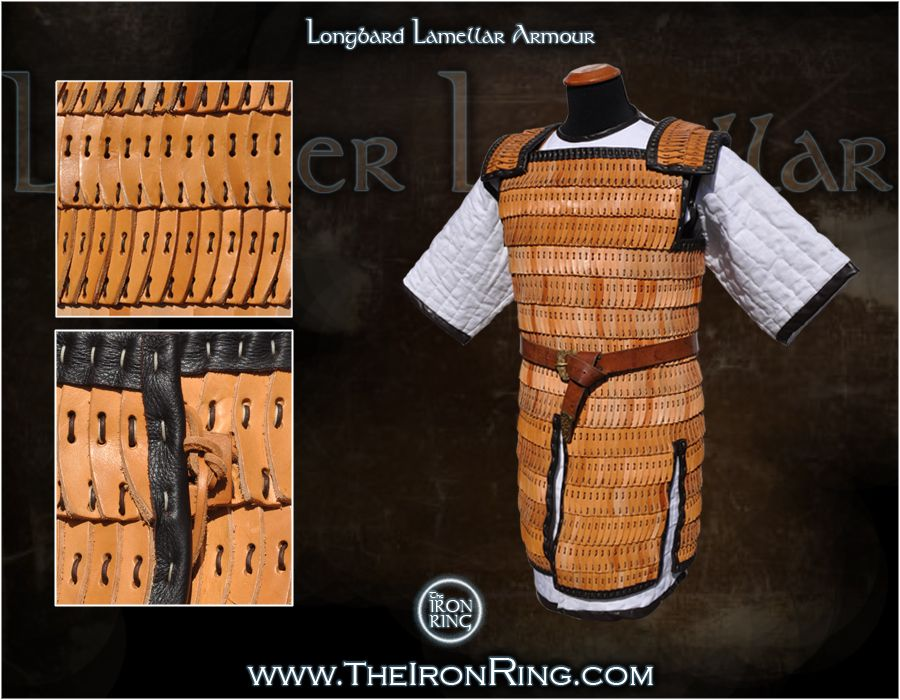 Asian ring armour on leather