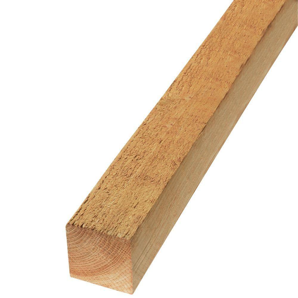 4 in. x 4 in. x 8 ft. Rough Green Western Red Cedar Lumber-635251 ...