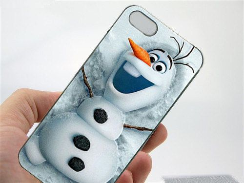 frozen olaf iphone 4/5/6/5c black or white by littlesunnecklace, $2.75