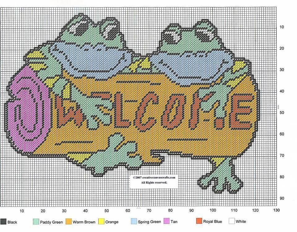 Welcome Plastic Canvas Plastic Canvas Crafts Plastic