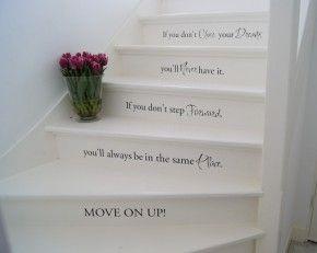 Leuk idee spreuken op de trap spreuken gezegden pinterest