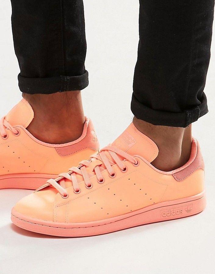 adidas Originals Stan Smith adicolor Trainers In Orange
