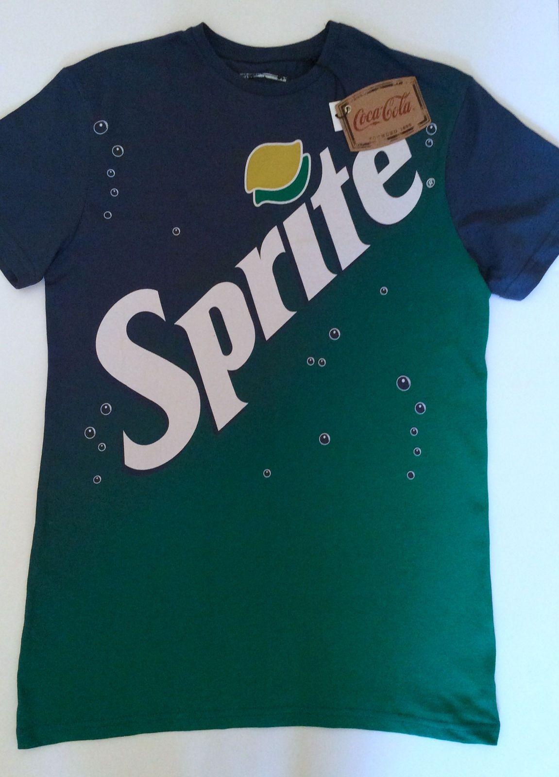 6a3a3e53 Mens Official Licensed Coca Cola SPRITE soda LOGO Slogan T Shirt from  Primark | eBay