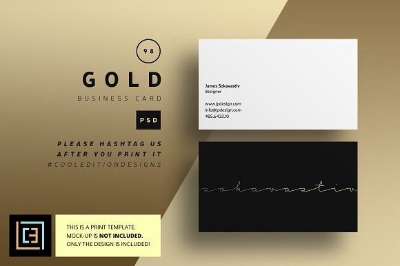 Gold business card 98 pinterest business cards business and gold business card 98 by cooledition on creativemarket specifications just free fonts used font links in the download file double sided business card reheart Choice Image