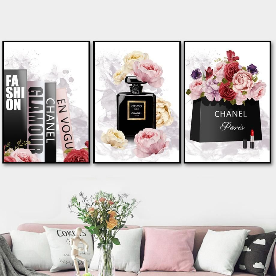 Fashion Look Wall Art Wall Art Canvas Painting Decorating With Pictures Book Perfume
