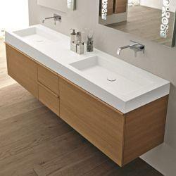 Doppelwaschtisch f rs badezimmer f r harmonie in der for Doppelwaschbecken ikea
