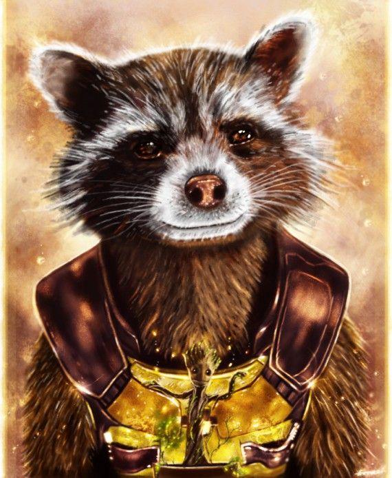 Rocket Gardien De La Galaxie : rocket, gardien, galaxie, Gardiens, Galaxie, Fusée, Raton, Laveur,, Personnages, Marvel,
