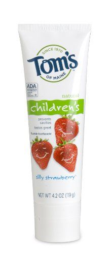 Tom's of Maine Anticavity Children'stoothpaste, Silly Strawberry, 4.2-Ounce (Pack of 3)
