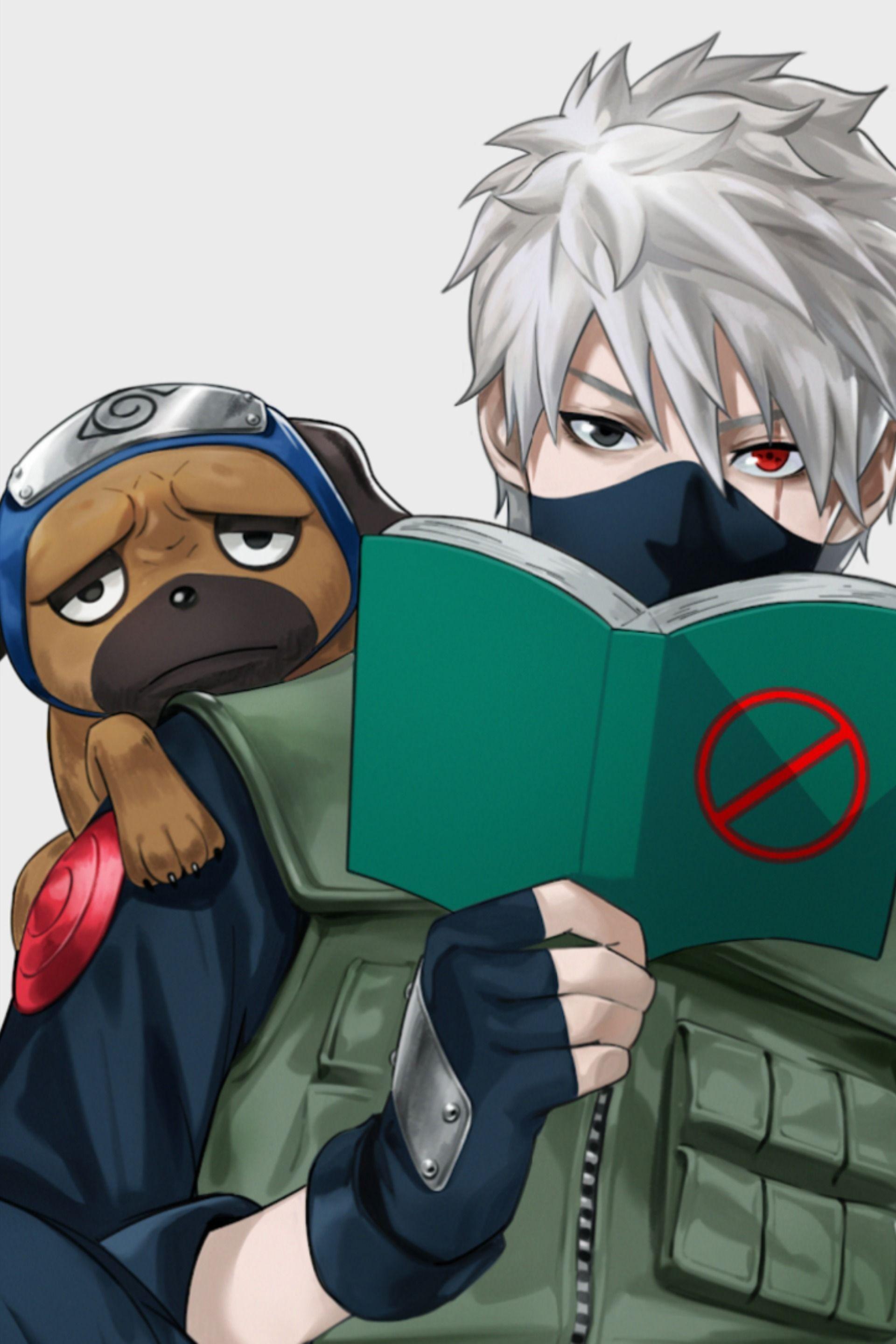Kakashi and Pakkun in 2020 Anime naruto, Wallpaper