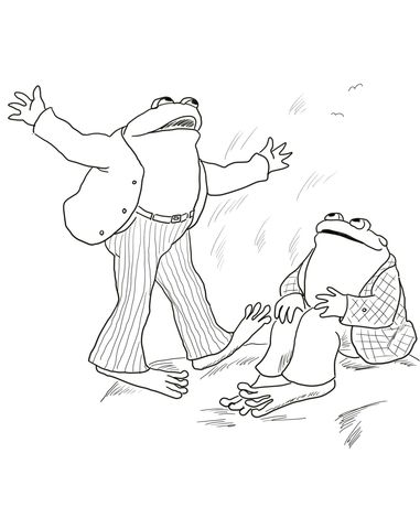 frog and toad are friends coloring page - Coloring Pages Frogs Toads